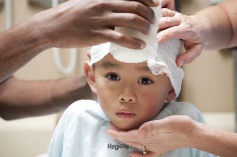 У детей, особенно младшего возраста, кости черепа практически не ломаются