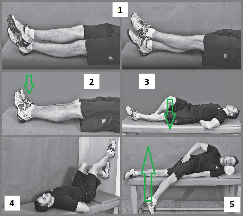 Эти движения можно выполнять с 3-го дня после снятия гипсовой повязки или ортеза