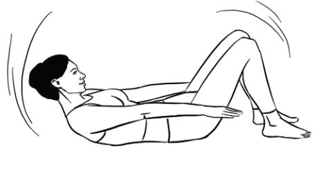Обратите внимание – подбородок должен касаться грудины