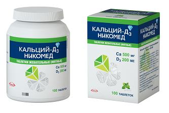 Препараты с Ca и витамином D