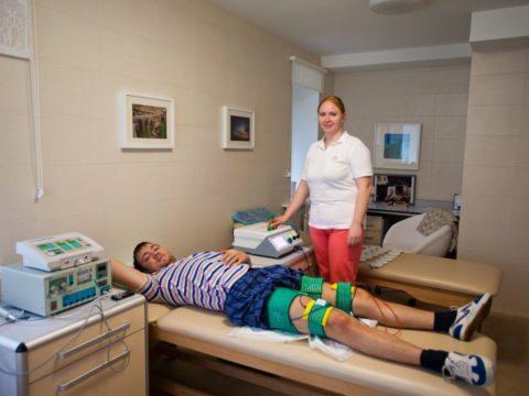 Проведение физиопроцедур значительно ускоряет процесс выздоровления