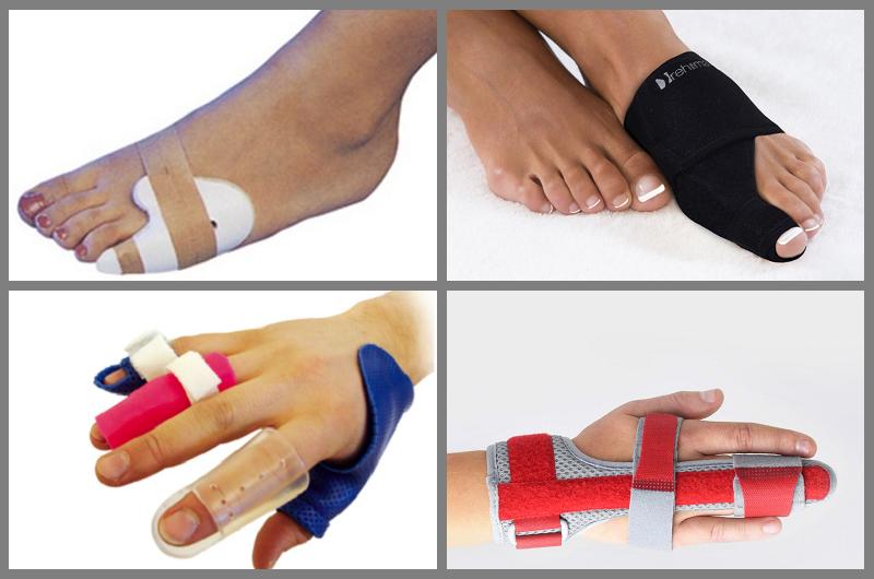 Полимерные ортезы и бандажи для фиксации травм пальцев