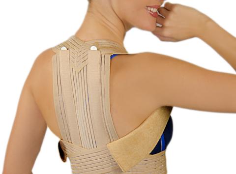 Корсет для поддержания позвоночника при компрессионном переломе грудного отдела