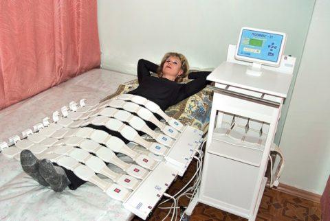 Физиотерапия входит в комплексное лечение при травмах шейки бедра.