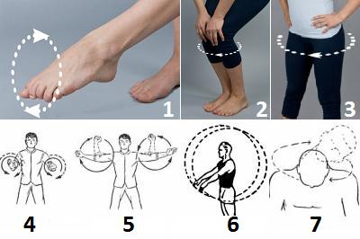 Разминка основных суставов