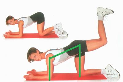 Для мышц поясницы и ягодиц