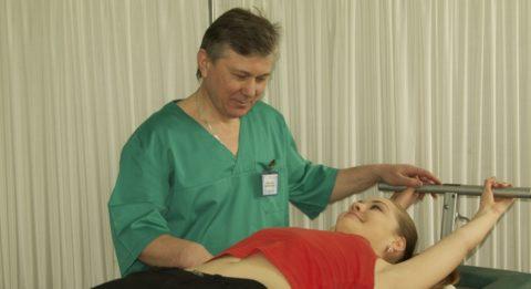 Этапом реабилитационного лечения является ЛФК