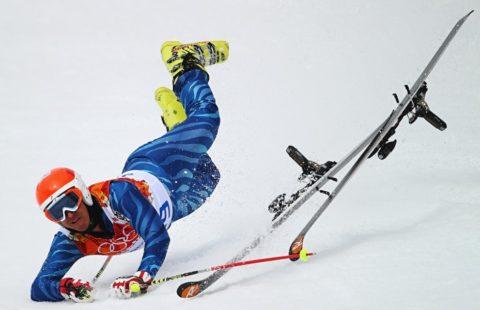 Падение в лыжном спорте