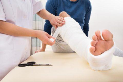 Первая помощь при переломах кости