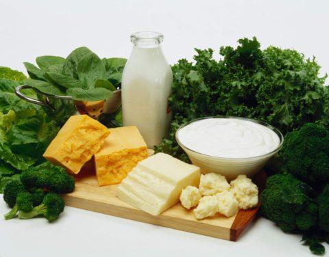 Питание должно включать кальций и белок