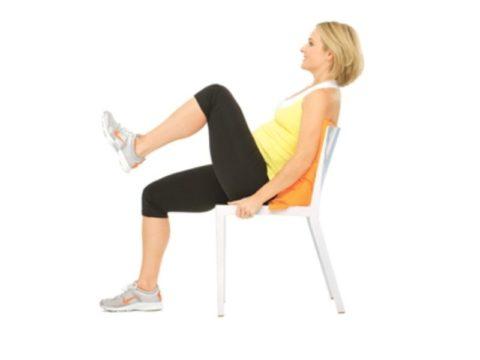 Подтягивание коленей