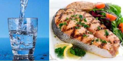 При переломах надо пить 2-2,4 л воды в день и есть побольше рыб семейства лососевые