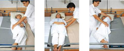 Регулярно нужно менять положение тела больного.