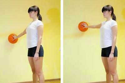 Удержание мяча на разной высоте