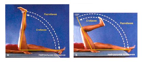 Во время разработки сустава начинайте поднимать прямую, а не согнутую ногу