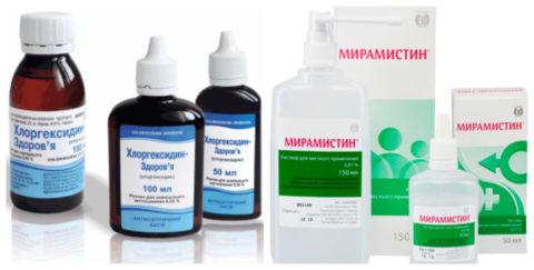 Антисептики используют для обработки раневой поверхности.