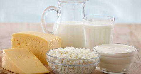 Молочная продукция при переломах
