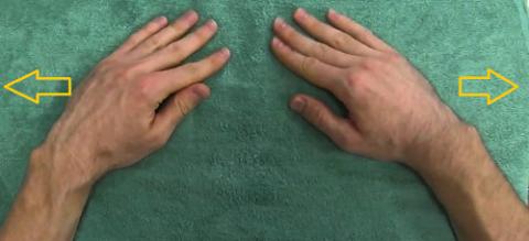 Начинайте комплекс разработки составов в положении, когда руки лежат на столешнице
