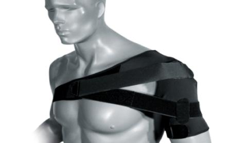 Наложение повязки для фиксации поврежденной плечевой кости