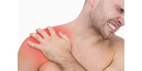 Опухлость как последствие полученной травмы плечевого сустава