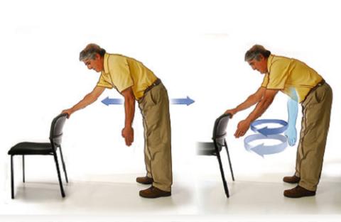 Пожилые люди для облегчения положения в наклоне могут использовать опору