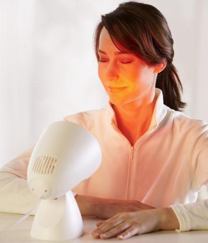 С помощью инфракрасной лампы можно ускорить выздоровление