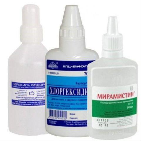 Обработка раны после укуса кошки антисептиками предотвратит воспаление.