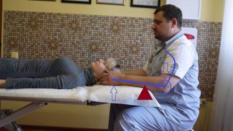 Рычаг и опора у остеопата в положении сидя