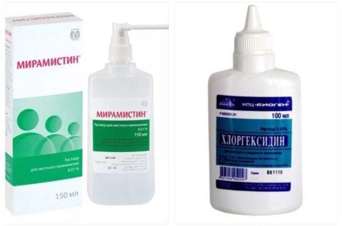 Пораженные участки после холодовой травмы обрабатываются антисептиками.