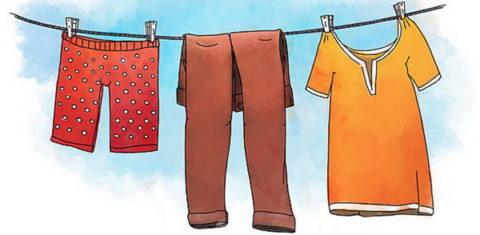После перемещения человека в теплое помещение, влажные одежду и обувь необходимо снять.