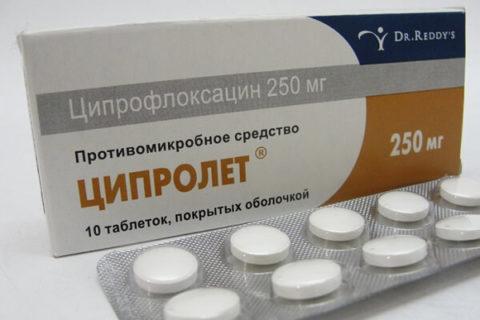 Препарат Ципролет используется при гнойных ранах