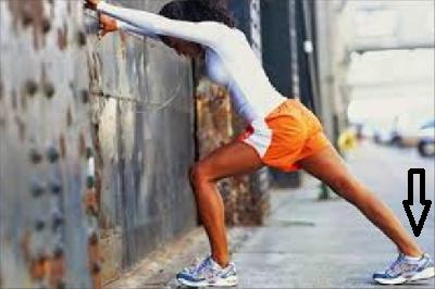 Разогрев мышц икры и ахиллова сухожилия