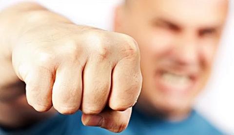 Боксерский вид сломанного пальца верхней конечности