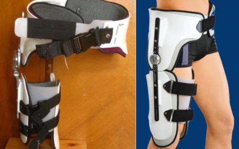 Деротационный ортез при переломе шейки бедра
