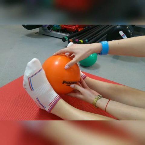 Использование медицинбола для нагрузки ноги