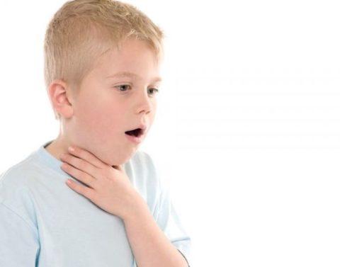 Отдышка и боль в горле.
