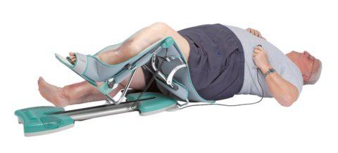 Пассивная разработка травмированной ноги на специальных аппаратах