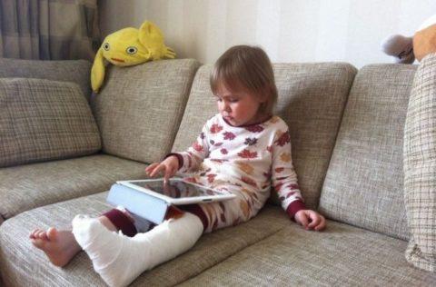 Перелом большеберцовой кости у ребенка