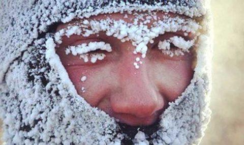При низких температурах довольно часто происходит холодовое поражение как всего лица, так и отдельных его частей, например, кончика носа.