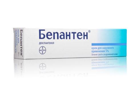 Применение крема с декспантенолом