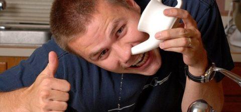 Промывание носа от гнойных масс