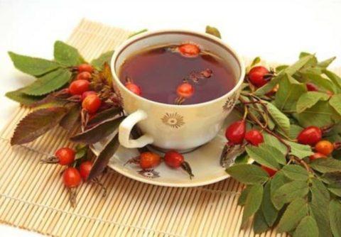 Самое вкусное и полезное лекарство – лечебный напиток из шиповника и боярышника.