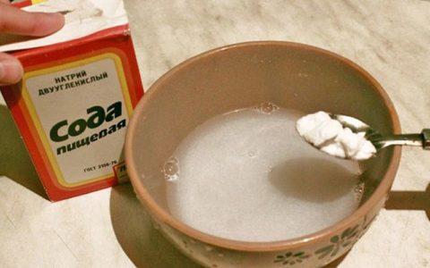 Содовый раствор, используемый при поражении веществом, в качестве первой помощи