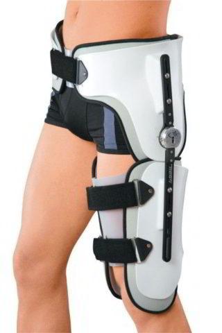 Фиксация тазобедренного сустава с помощью иммобилизирующего устройства. Цена приспособления в медицинской технике варьируется от 3500 до 5500 рублей.