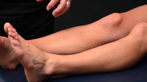 Контроль срастания травмированной нижней конечности лечащим врачом для начала реабилитации