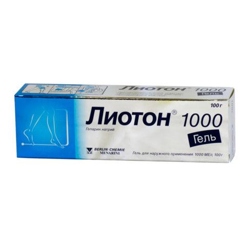 Лиотон 1000, гель для наружного применения 1000 МЕ/г туба.