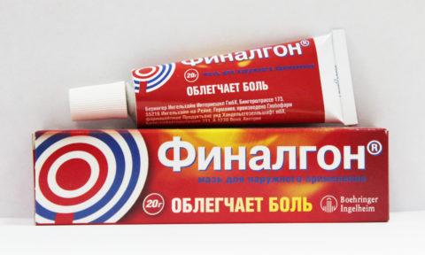 Мазь для наружного применения, облегчающая боль. 20 грамм лекарственного средства в одной упаковке.