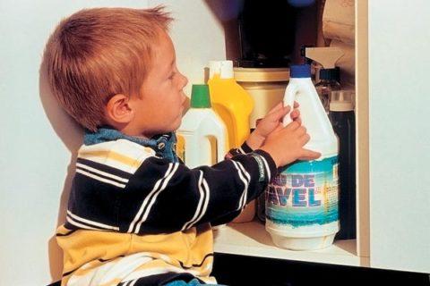 Моющие средства, как причина ожога