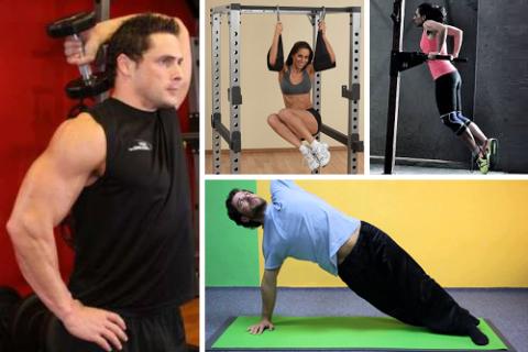 Не забудьте использовать в комплексе упражнения с гантелями, висы и упоры