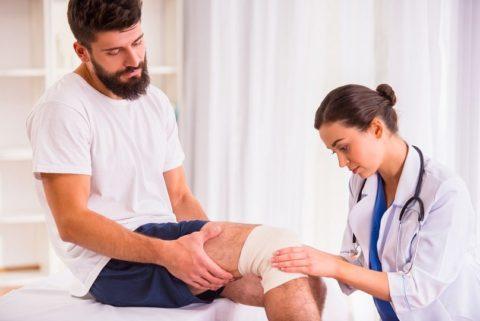 Рекомендации к предоставлению первой медицинской помощи при подозрении на перелом колена